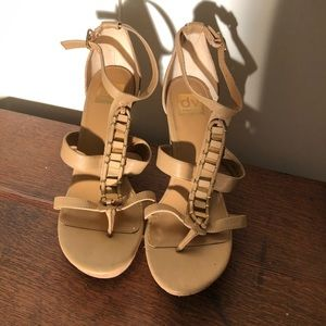 Dolce Vita Tan Cork Wedge Sandals